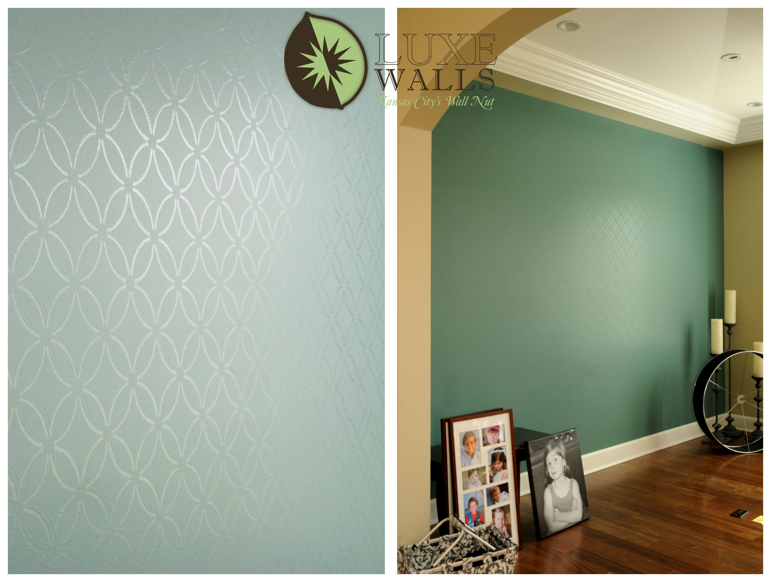 Stenciling Luxe Walls