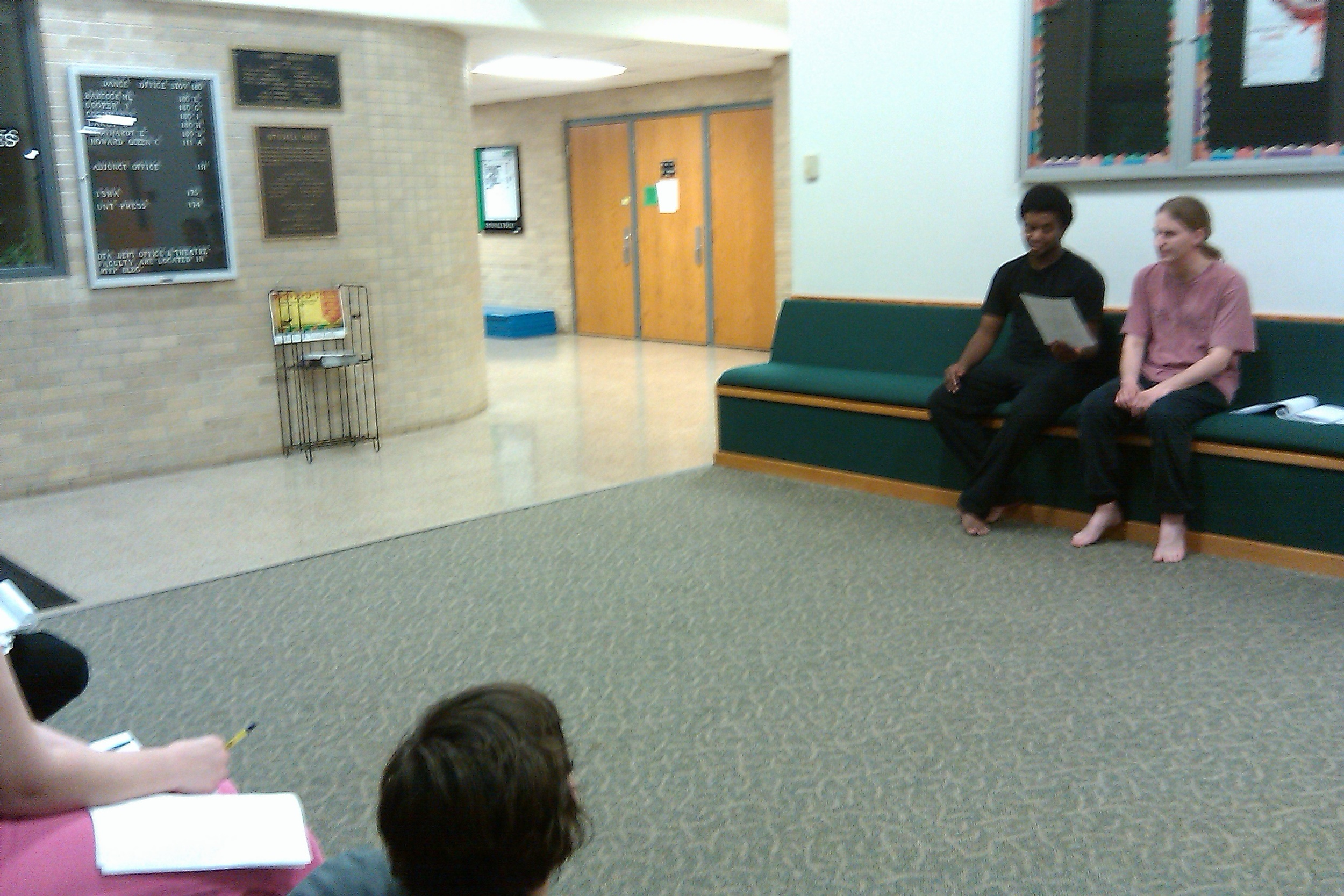 "Images from ""(il)logical: a play on love"" rehearsal."