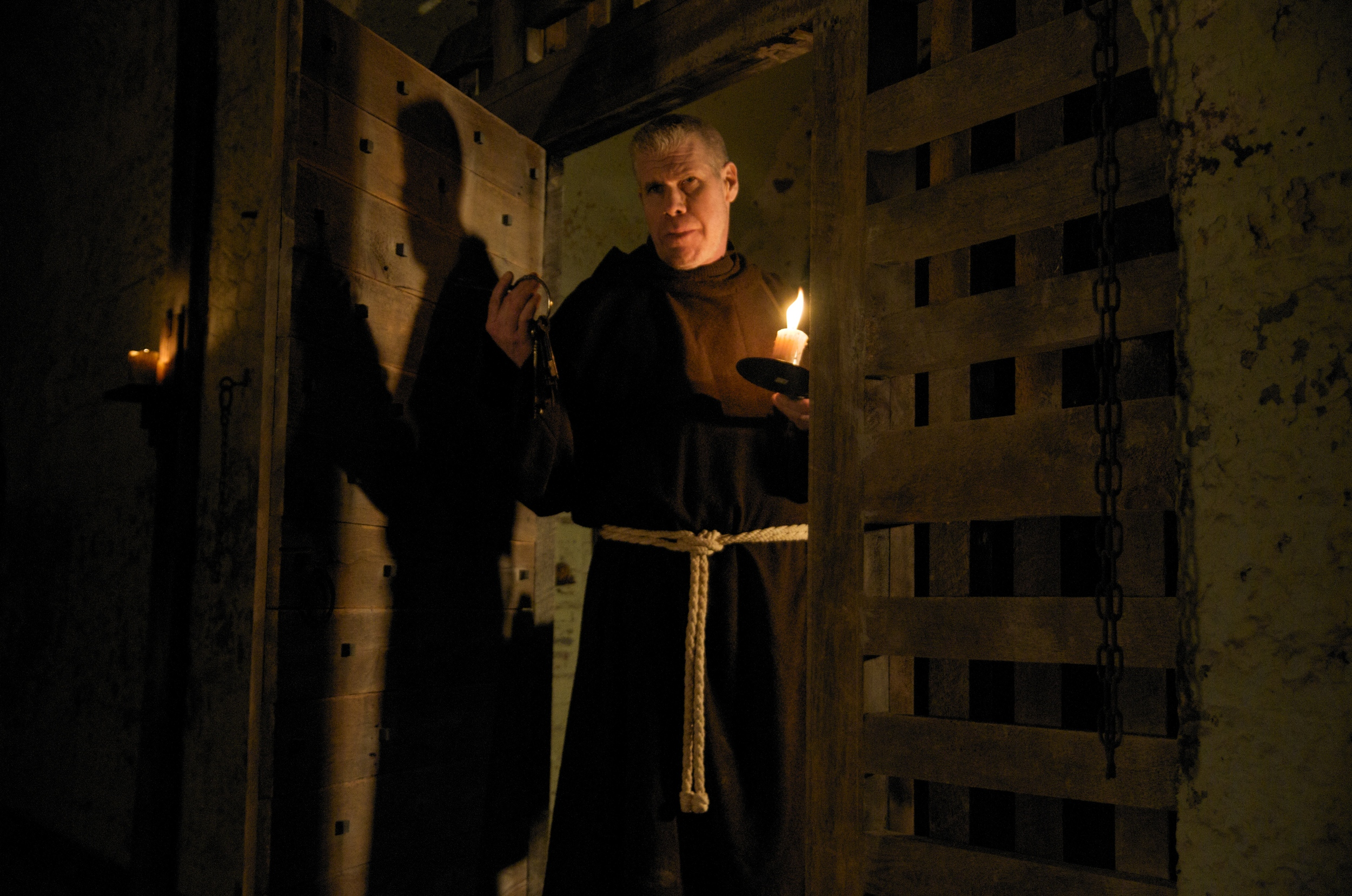 Father Duffy in the Holding Cell
