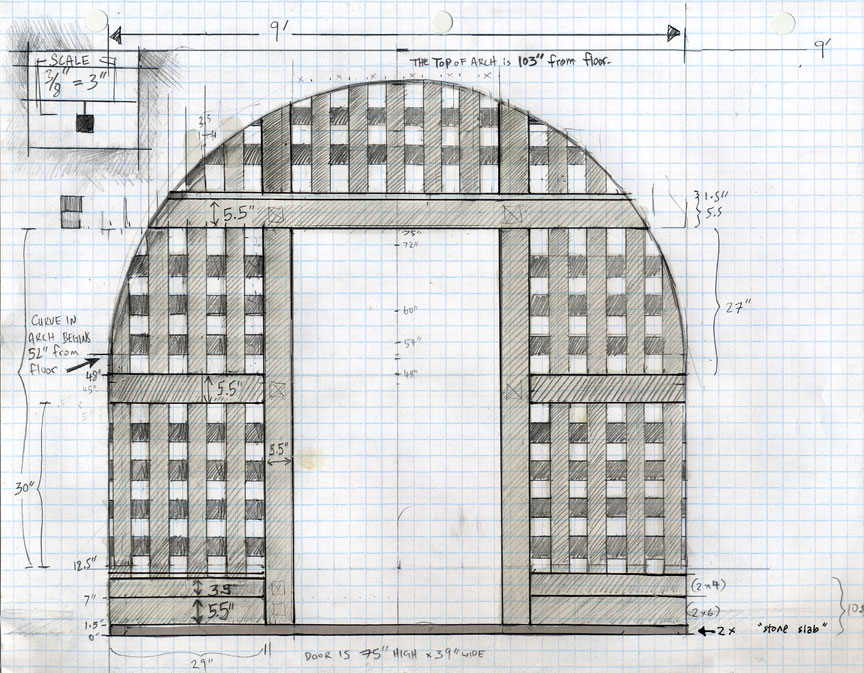 The Holding Cell Gate - plans