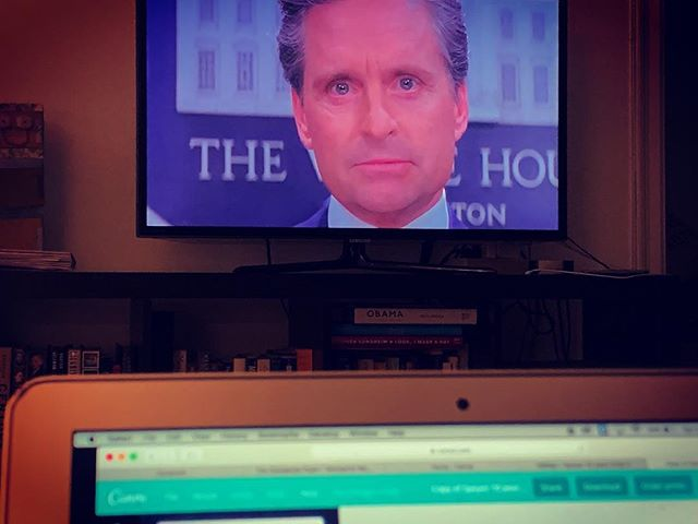 """When you are sick at the most inopportune time, you work feverishly (literally) from the couch on a Saturday afternoon. Since you just watched your usual go-to """"You've Got Mail,"""" you turn on """"The American President"""" as your background noise. #notimeforsickness #iamthepresident #ofthecouch"""