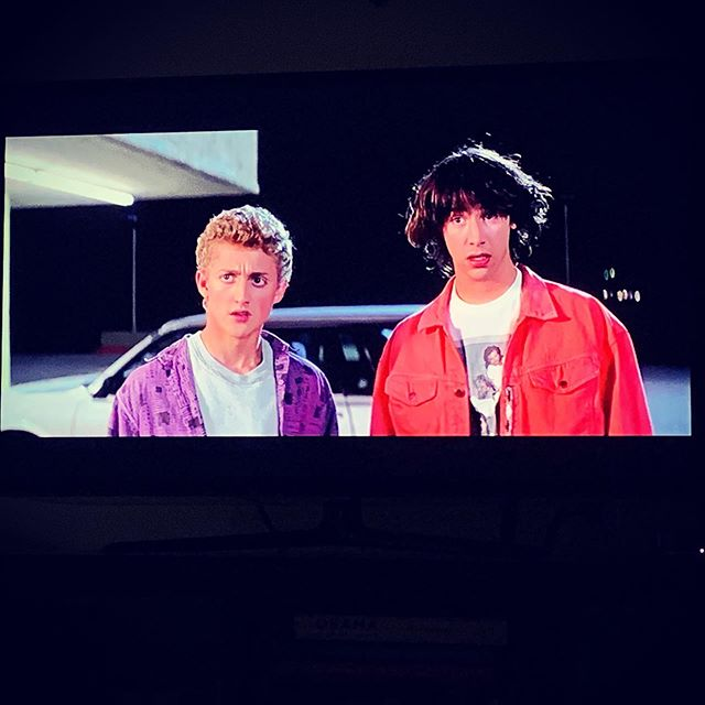 Summer 2019 Movie Fest begins. First up: Bill and Ted's Excellent Adventure. #chaetsummeradventure2019 #dude