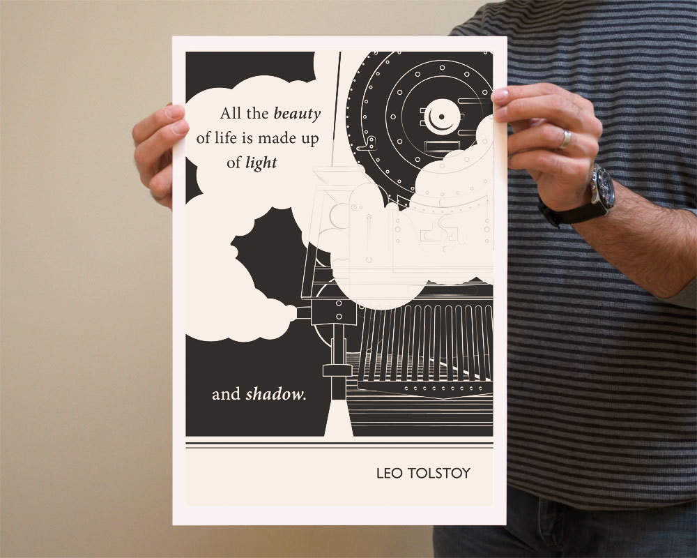 Leo Tolstoy Quote Art Print  by ObviousState