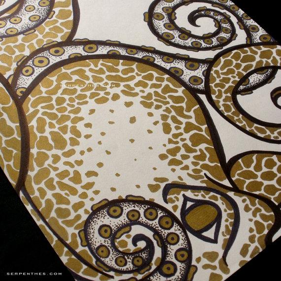 The Golden Octopus - original illustration