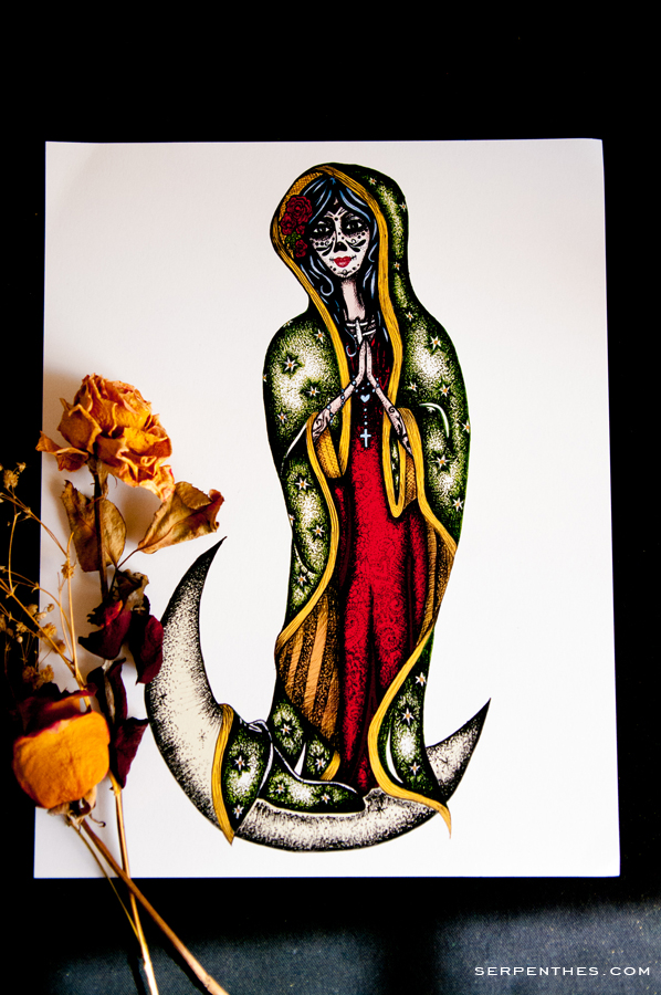 Day of the Dead Virgen de Guadalupe print