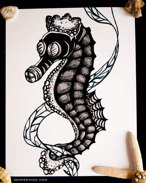 Dockweiler Sea Horse print