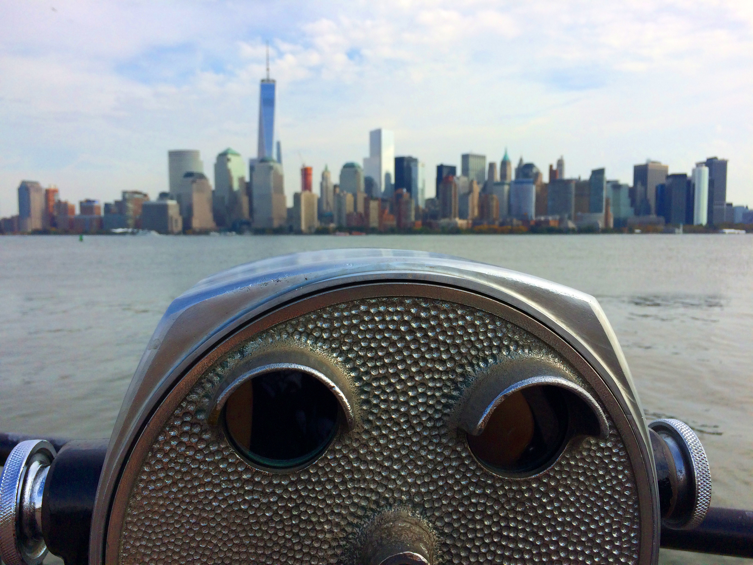 The view of Manhattan from Liberty Park.