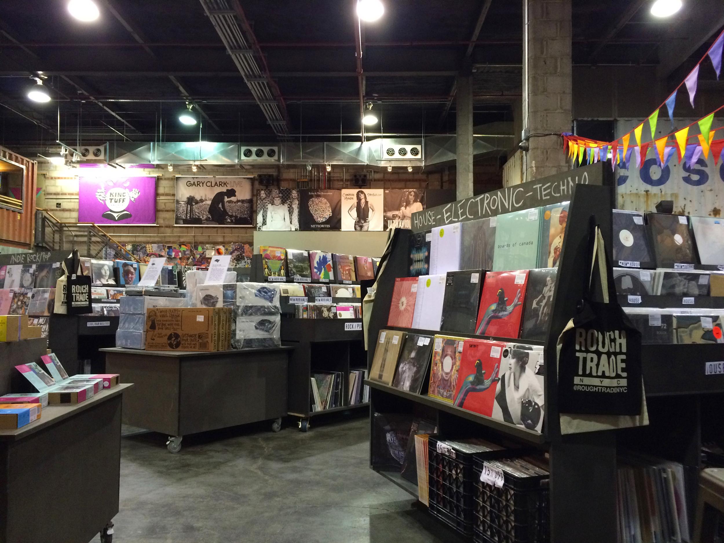 Record shopping in Brooklyn.