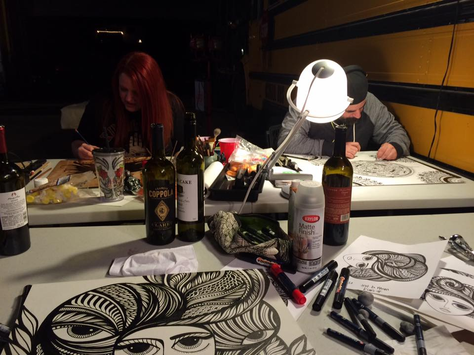 The amazing  Monica Moody  (alcohol ink/illustration/pyrography extraordinaire) and her talented husband Matt.