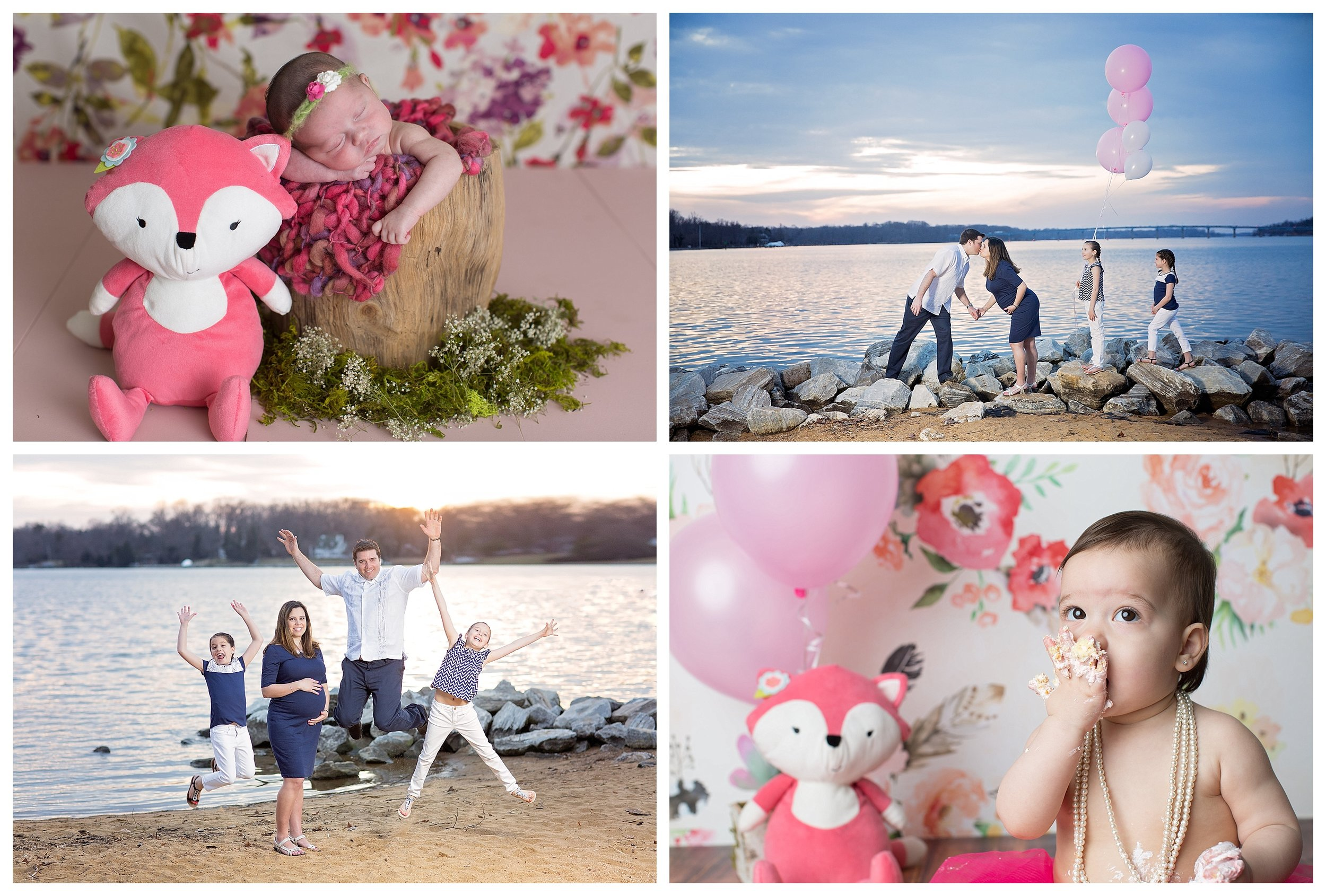 Bump & First Year $1500  Includes Maternity, Full Newborn, Two Milestones of your choice.