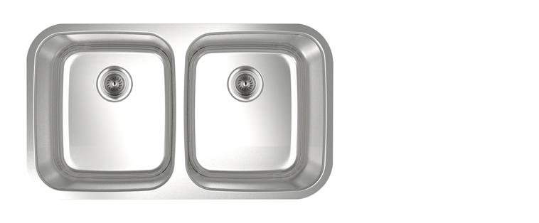 Évier de cuisine acier inoxydable Rubi Malbec cuve double 820D