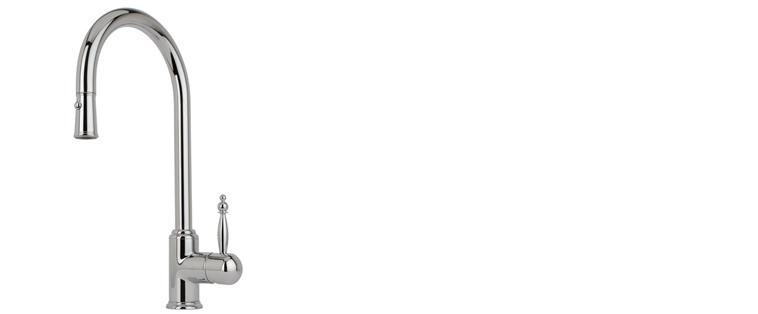 Robinet de cuisine RUBI avec douchette 2 jets LAURUS