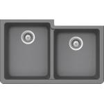 Éviers de cuisine silgranite gris double cuve offset b305
