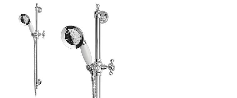 Plomberie Rubi ensemble de douche avec barre coulissante classique et douchette Kodi