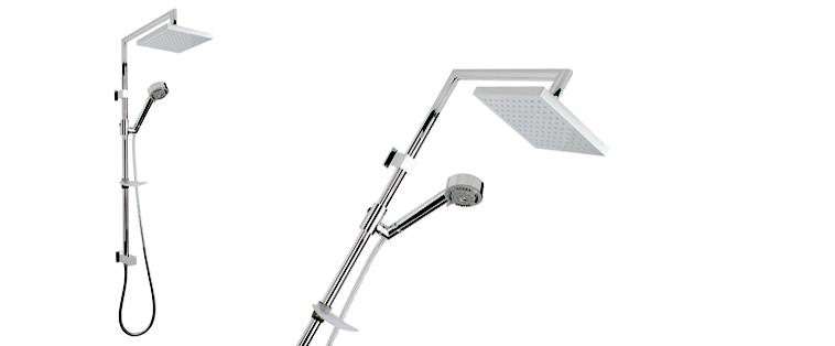 Plomberie Rubi Ensemble de douche avec barre coulissante Luvia 4203
