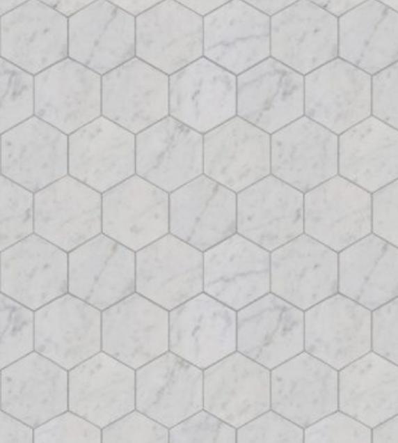 Bianco Carrara Hexagonale