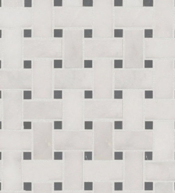 Mosaïque Marbre Blanc Noir