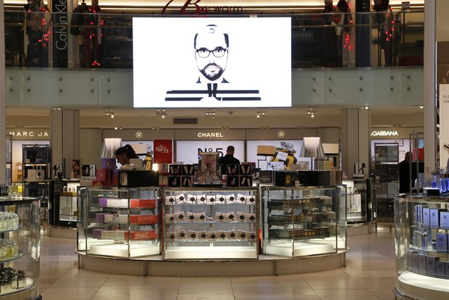 Macy's Herald Square beauty floor renovation.  Image by George Chinsee for WWD.