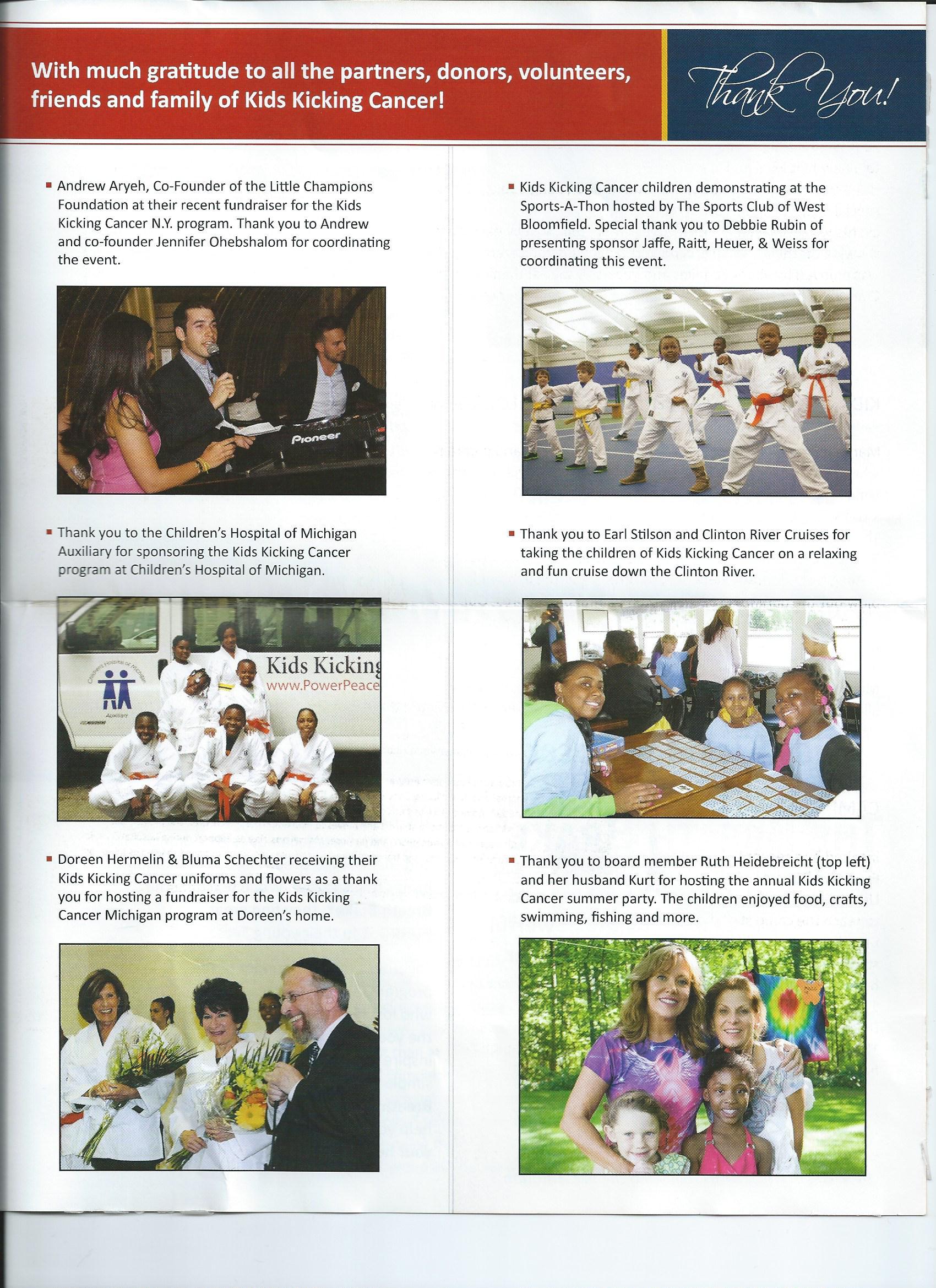 Kids Kicking Cancer newsletter, November 2013