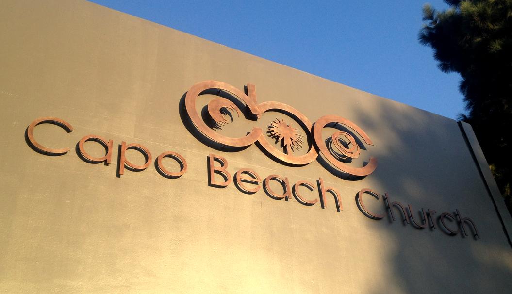 Capo Beach Church • Lasered Metal Signage Installation