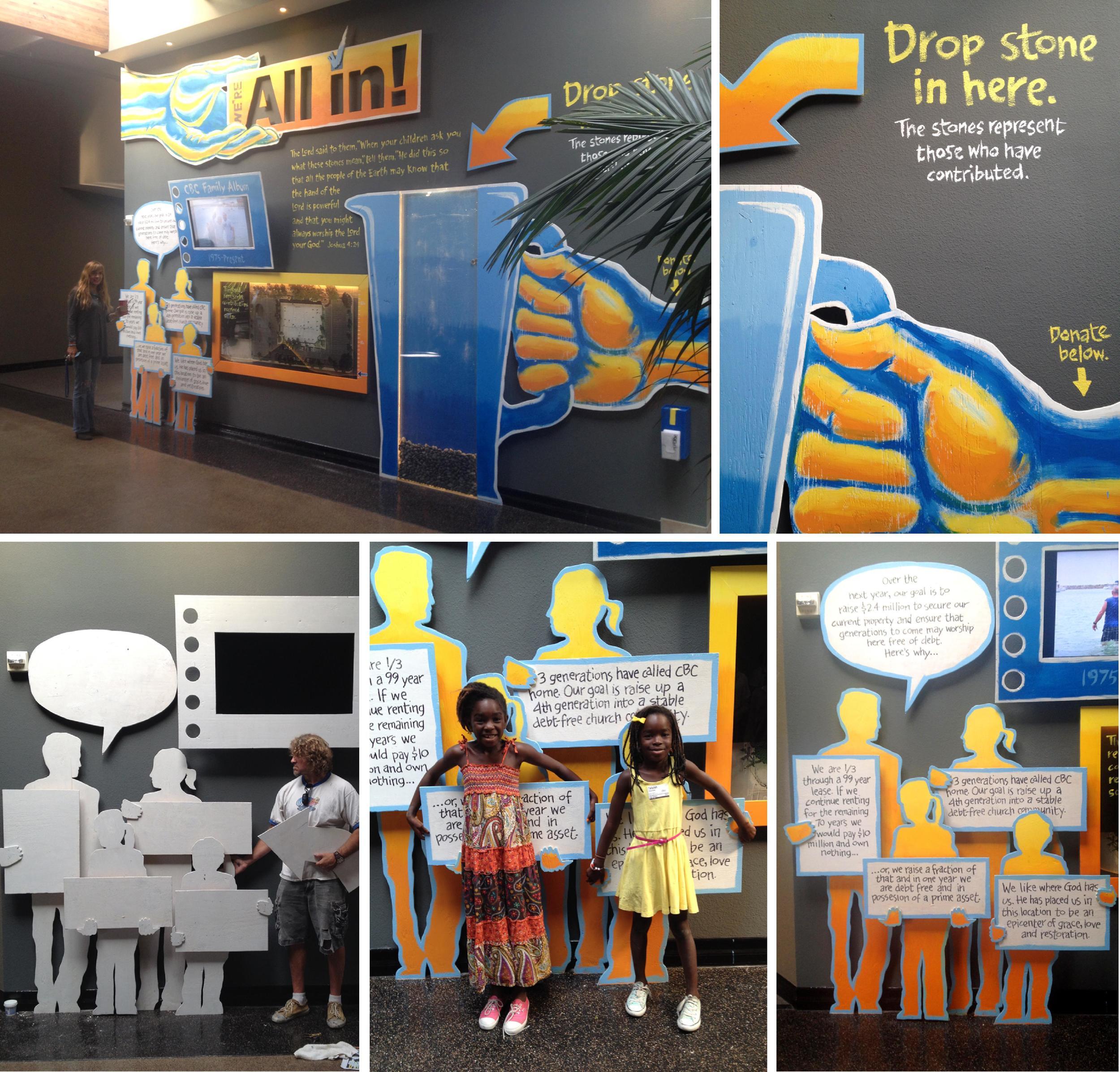 """All In"" Fundraiser Design/Installation • Capo Beach Church"