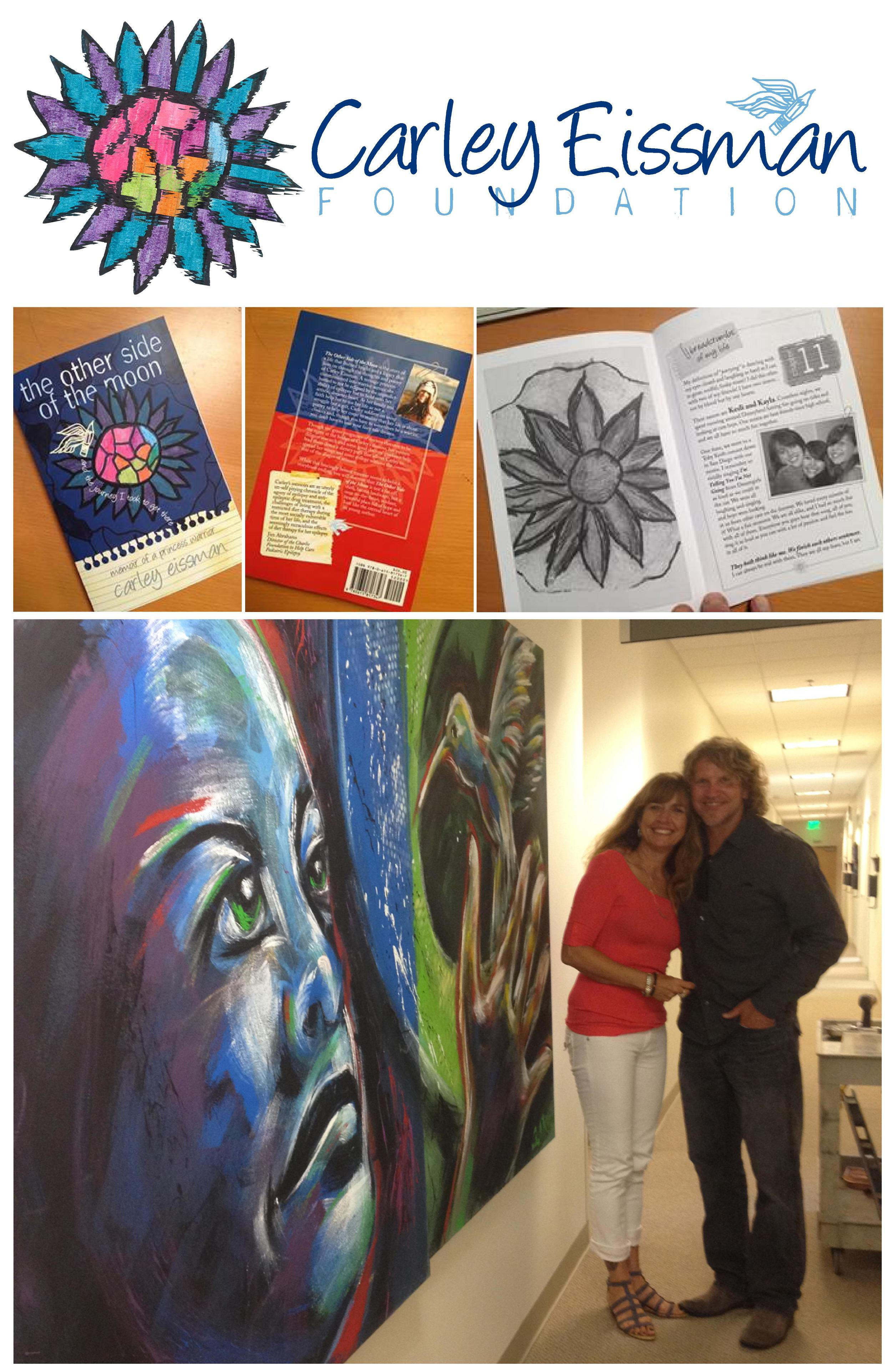 CEF Logo, Book Design and Fundraiser Painting at USC Keck Medical Center (with Carley's Mom Lori)