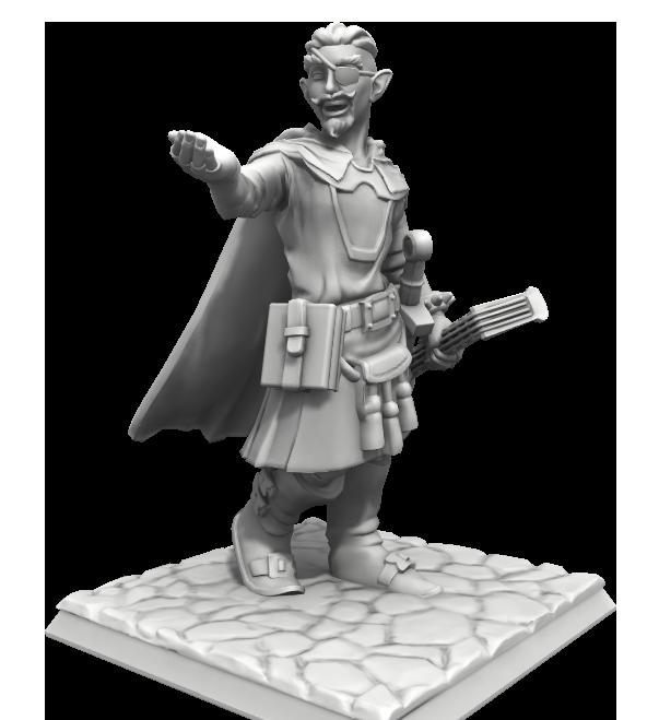 Sydretorian the Bard, courtesy of HeroForge.com!
