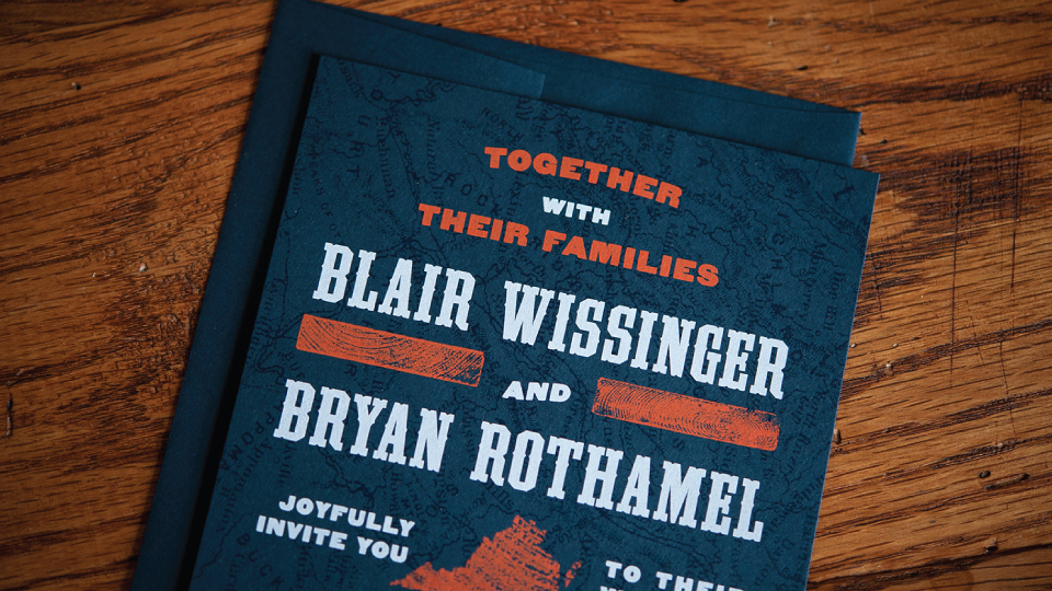 Blair & Bryan Wedding Stationery