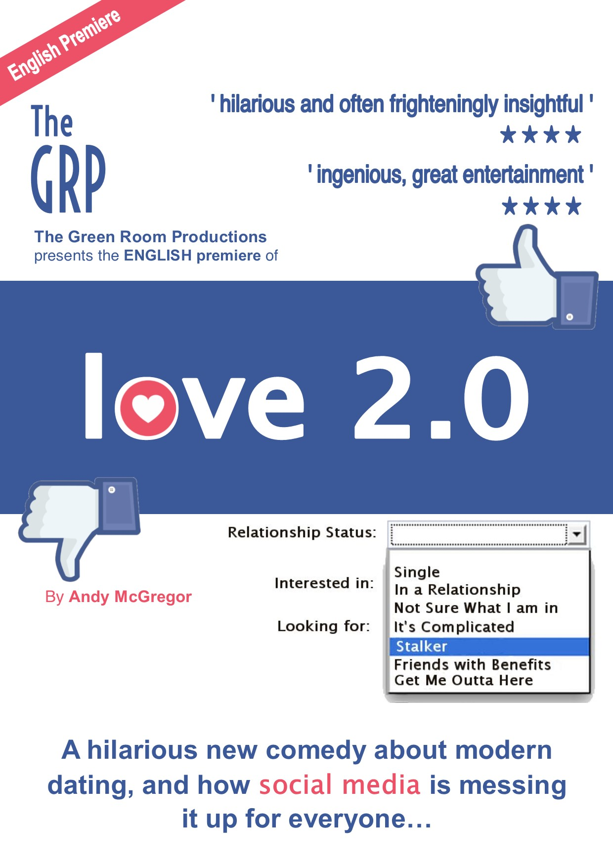 Love 2.0 - The Green Room Productions, Eastbourne