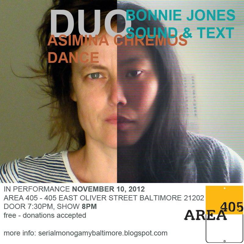 Duo: Asimina Chremos Dance/Bonnie Jones Sound and Text, 11.10.2012