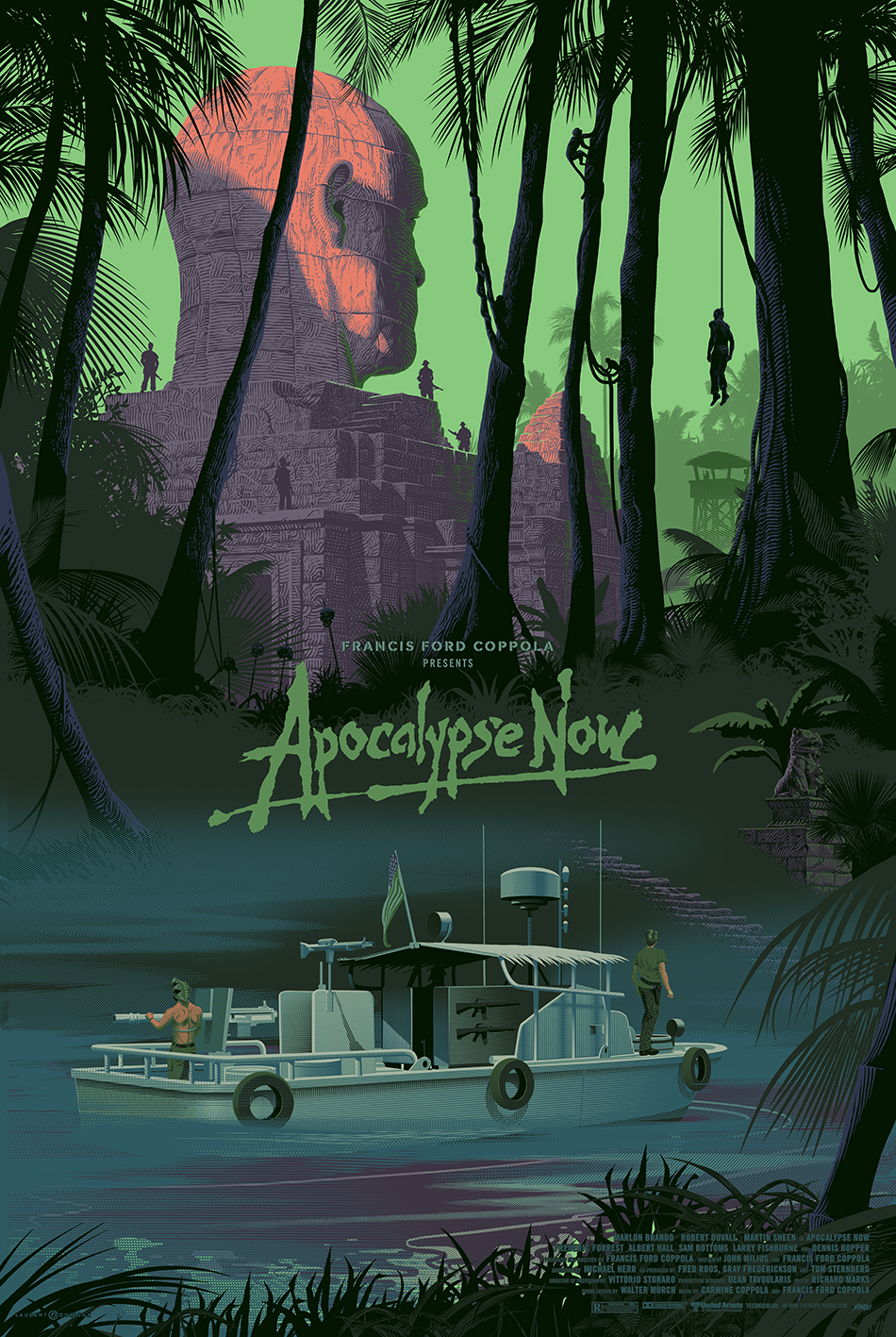 Apocalypse Now Variant Jungle Laurent Durieux Poster Print Mondo Gallery river