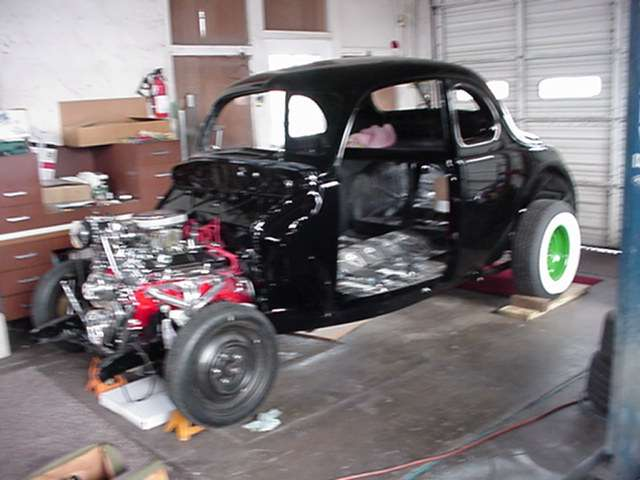 '40 Ford Being completed by Rex Gray and his assistand Jack Mills