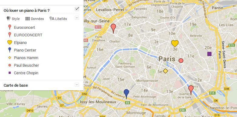 Magasins de piano à Paris - location de pianos.