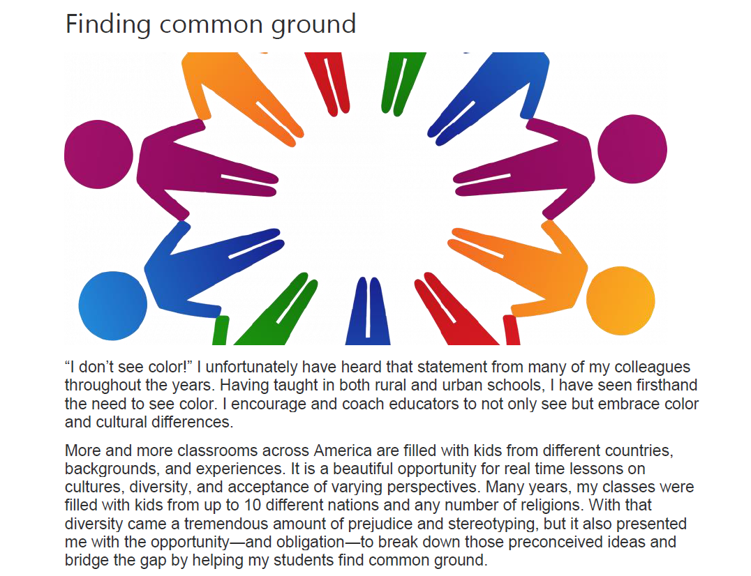 Finding Common Ground for Teachers and Students