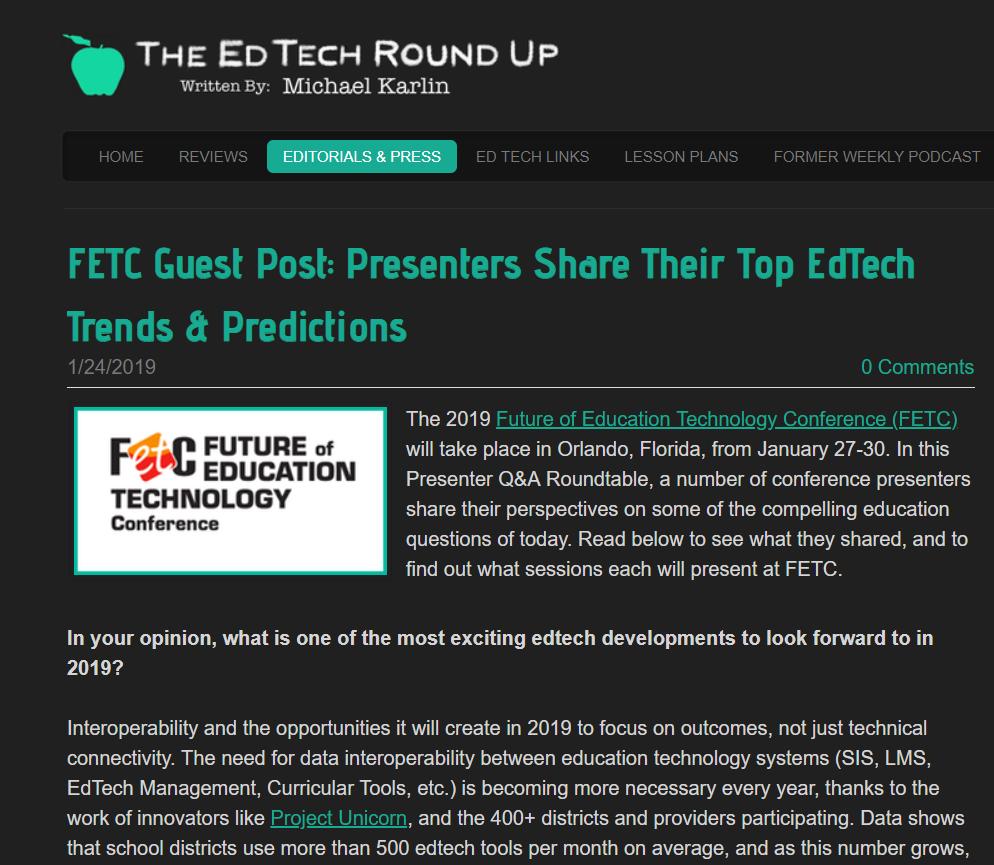2019 Educational Change Predictions