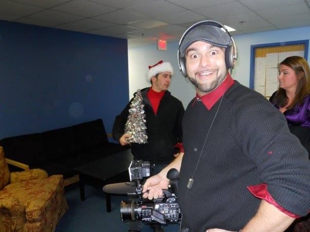 John DeMato Productions holding video camera Maury Show