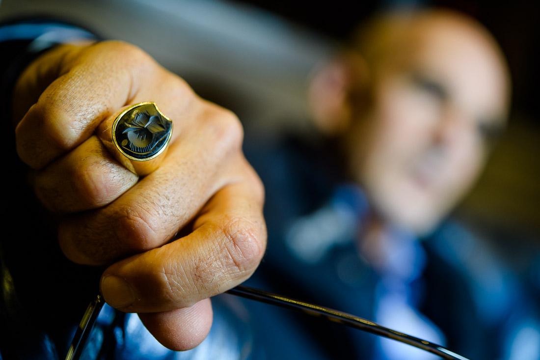 thought leader speaker Ted Rubin business portrait NYC ring on finger