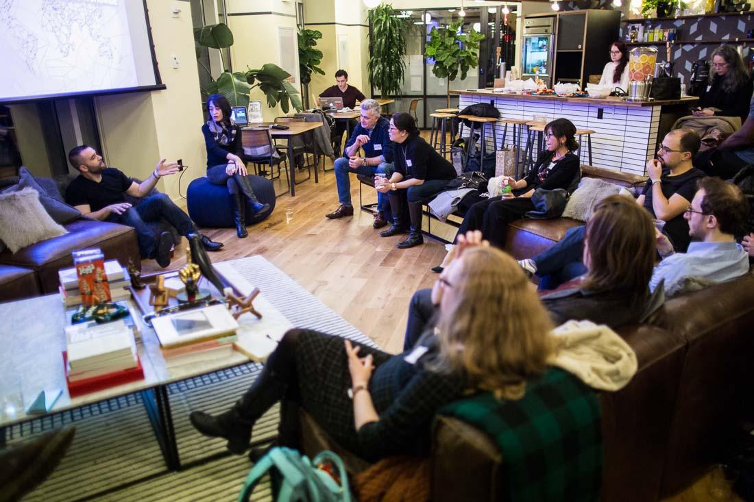 John DeMato Productions speaking fireside chat Wework group shot