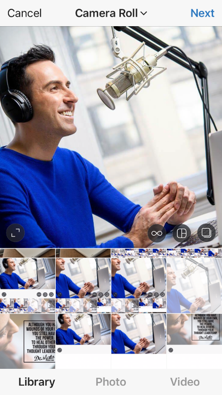 NYC business portrait Milan podcasting IG Post Centered
