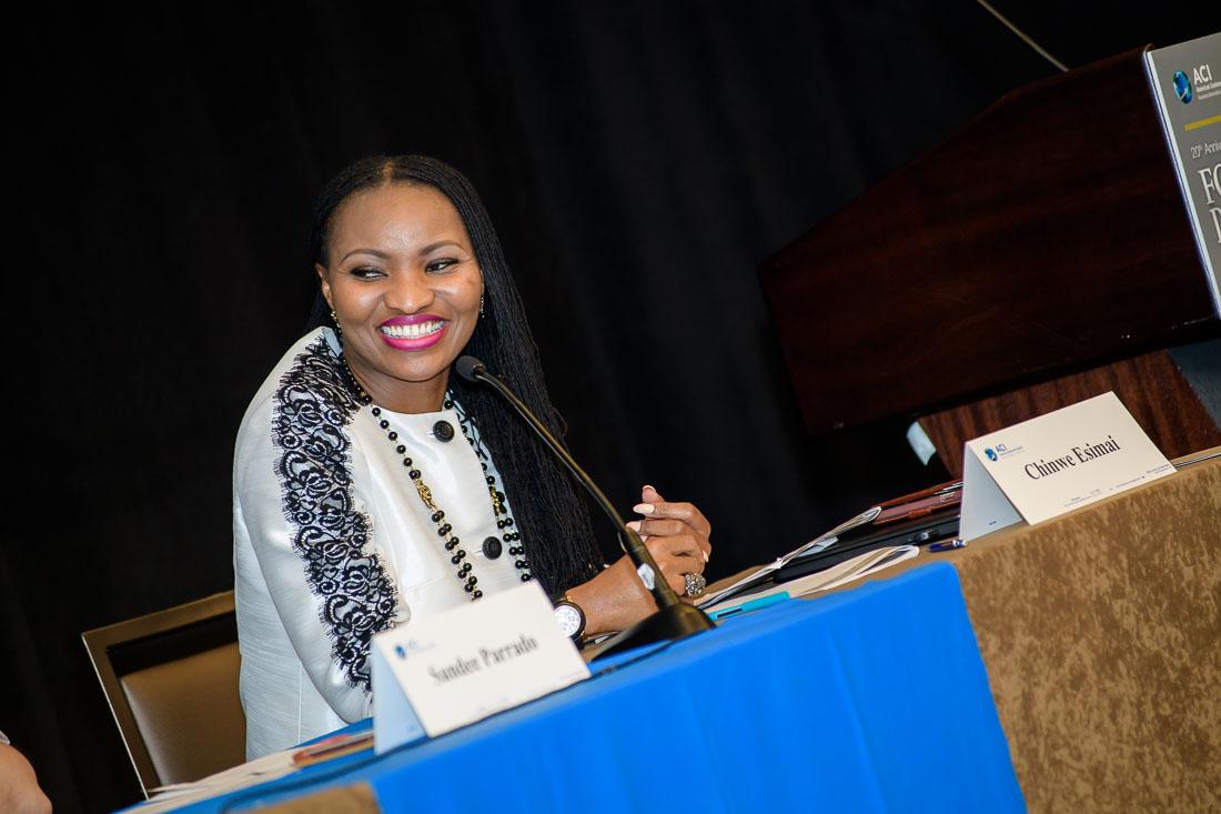 Speaker Author Thought Leader Chinwe Esimai branded lifestyle portrait speaking