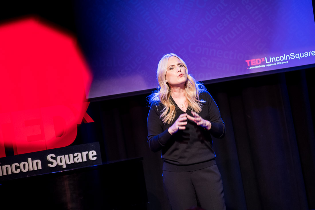 NYC branded lifestyle portrait TEDxLincolnSquare Lolly Daskal expressing herself