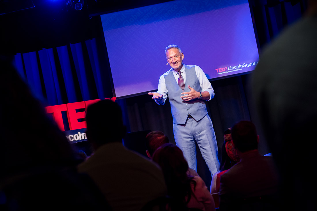 NYC branded lifestyle portrait TEDxLincolnSquare Jeffrey Shaw smiling