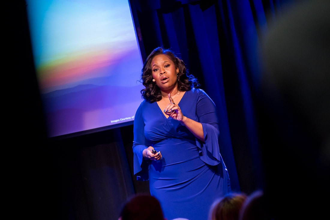 NYC branded lifestyle portrait TEDxLincolnSquare Pamay Bassey
