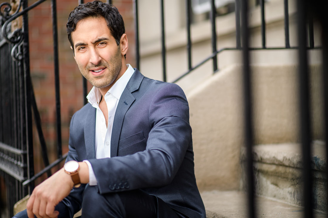 NYC branded lifestyle portrait Rich Rella looking confident