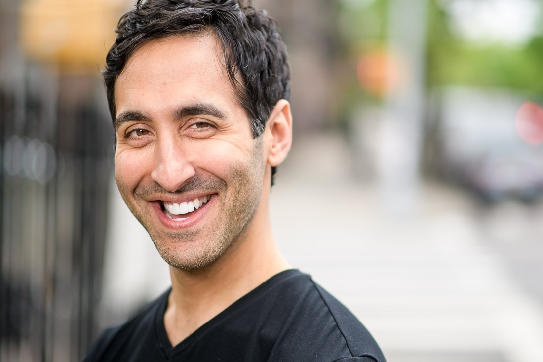 NYC branded lifestyle portrait Rich Rella smiling