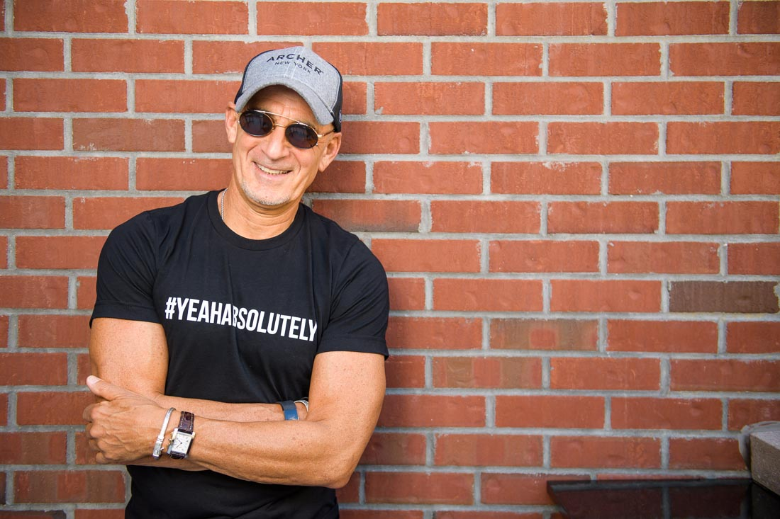 NYC Branded Lifestyle Portrait SpeakerAuthor Thought LEader Ted Rubin #yeahabsolutely tee smiling