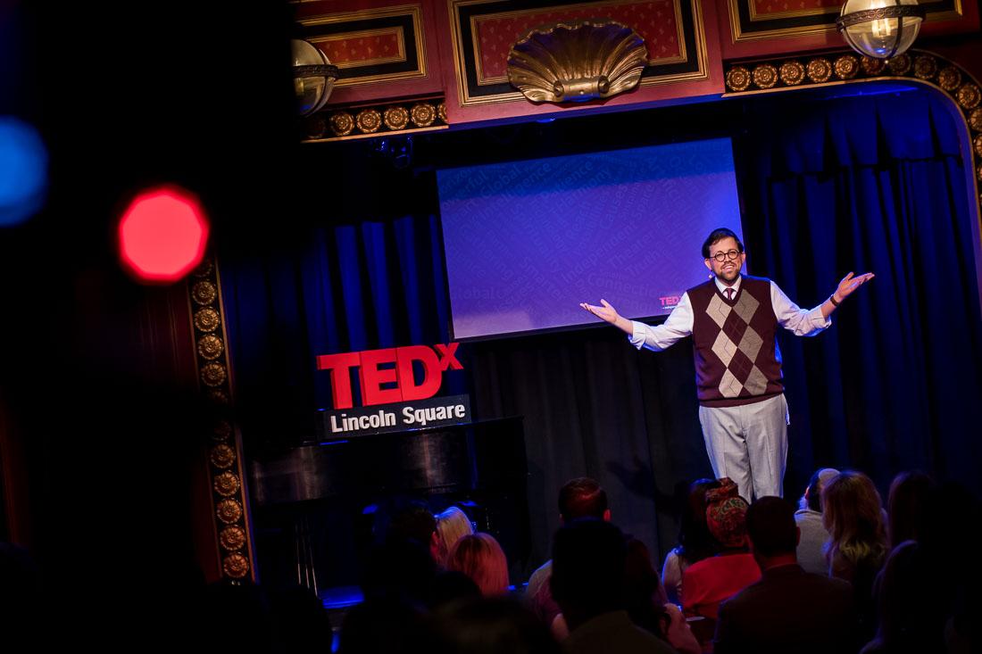 NYC Branded Lifestyle Portrait TEDxLincolnSquare Rabbi Poupko WS