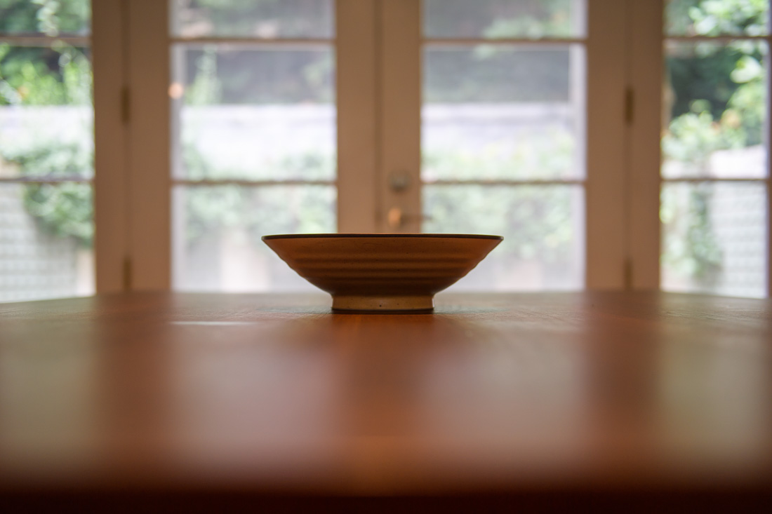 NYC Branded Lifestyle Portrait kitchen table and bowl