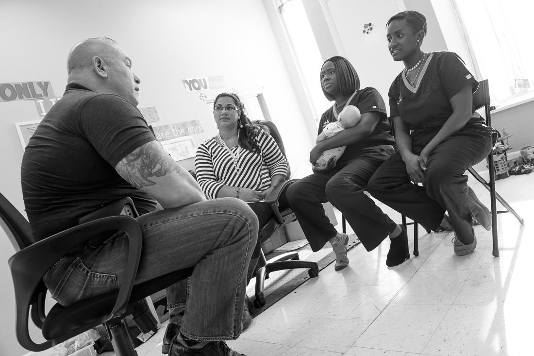 NYC Branded Lifestyle Portrait Angelwatch Dave Vitalli meeting with care center