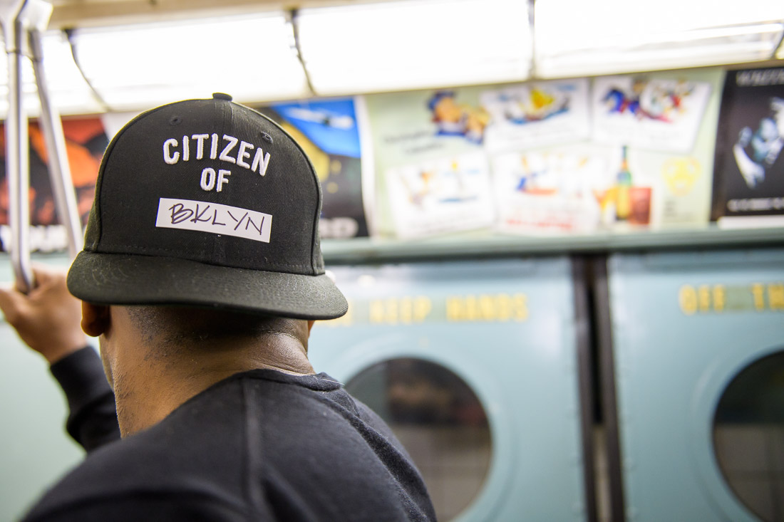 NYC Branded Lifestyle Portrait Podcaster G Moody MTA train straphanger